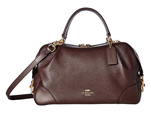 COACH Women's Polished Pebble Leather Lane Satchel