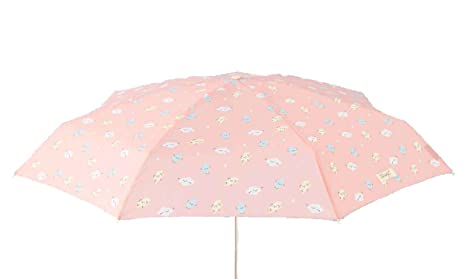 Paraguas plegable Mr. Wonderful Estampado nubes-rayos Rosa suave