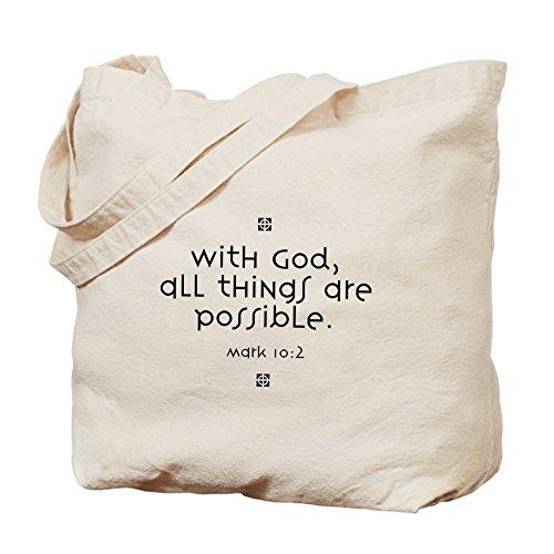 CafePress–con dios–Gamuza de bolsa de lona bolsa, bolsa de la compra
