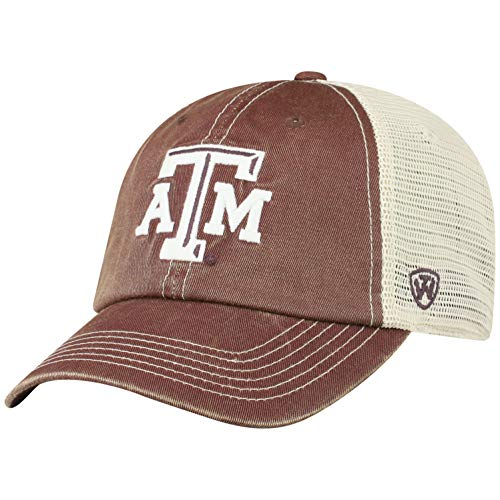 (Top of the World Texas A&M Aggies Men's Vintage Hat Icon, Maroon, Adjustable )