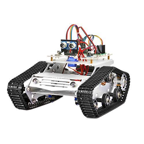 KOOKYE Robot Car Chassis + Robot Car Electronics Parts Kit Tank Platform Metal Stainless Steel 2DW Motor 9V for Arduino by KOOKYE (Image #4)