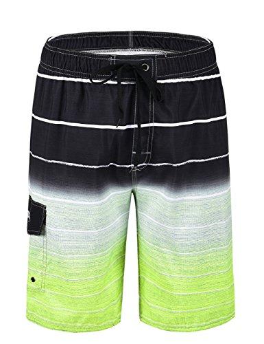 Nonwe Men's Beachwear Quick Dry Striped Swim Trunks