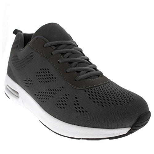 Kom I Form Kvinna Som Kör Gym Walking Fitness Sport Atletisk Vadde Sneakers Grå / Grå / Vit