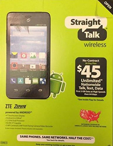 ZTE Zephyr - Z752C - 3G Android Prepaid Smartphone - Stra...