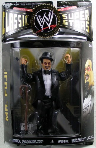 WWE Wrestling Classic Superstars Series 26 Action Figure Mr. Fuji (Wrestling Wwe Superstars)