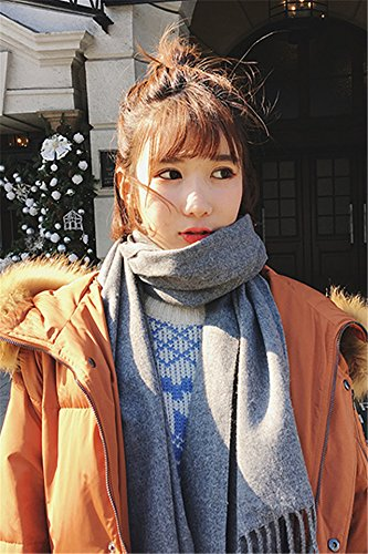 Generic Ms. autumn and winter in Europe and America star with a solid color cashmere scarf shawl collar dual-use Beautiful couple girlfriends