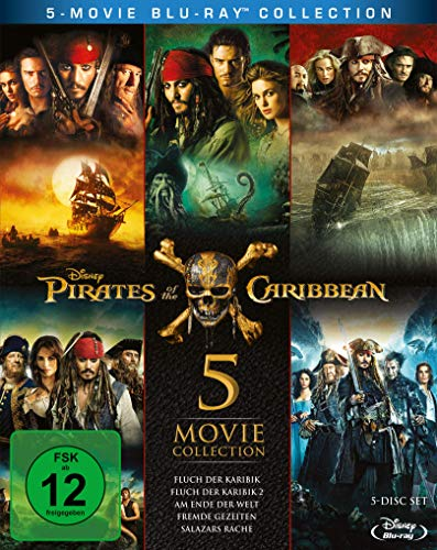 Pirates of the Caribbean 1-5 Box [Alemania] [Blu-ray]: Amazon.es ...