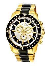 Porsamo Bleu Grand Prix G Stainless Steel Gold Tone, Black & Gunmetal Men's Watch 084CGPS