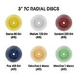 """Dedeco Sunburst - 3"""" TC Radial Bristle Discs"""
