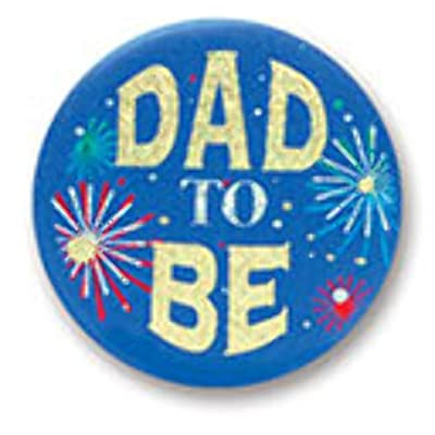 "Dad to Be Satin Button 2"" Party Accessory: Toys & Games"