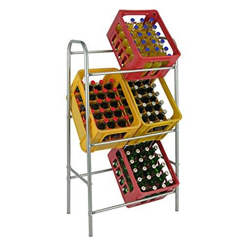 Flaschenkastenständer für 6 Kisten Getränkekistenständer Kastenständer Getränkekistenregal Flaschenkisten Halter