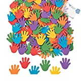 Foam Rainbow Hand Self-Adhesive Shapes (With Sticky Notes)