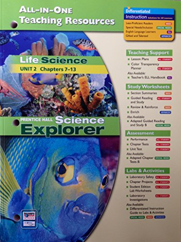 Life Science: All-In-One Teaching Resources (Unit 2 Ch. 7-13)