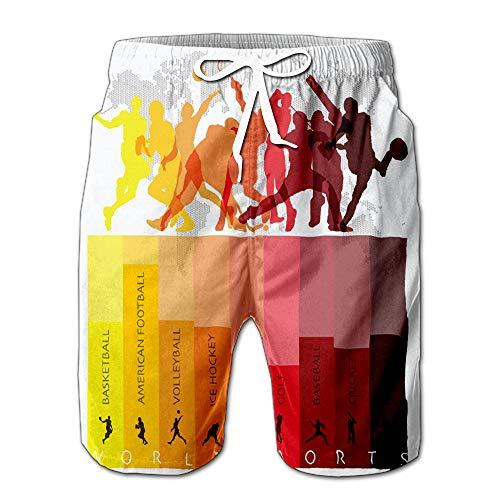 - World Sport Isolate Action Icon Set Design Template Men Swimwear Volley Pants Pocket XXL