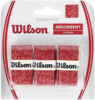 Wilson Advantage Overgrip Empuñadura, 3 unidades, unisex, rojo ...