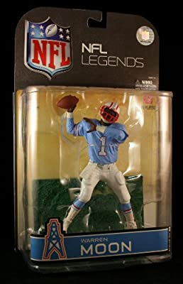 McFarlane Toys NFL Sports Picks Legends Series 4 Action Figure Warren Moon (Houston Oilers) Blue Sleeves Variant
