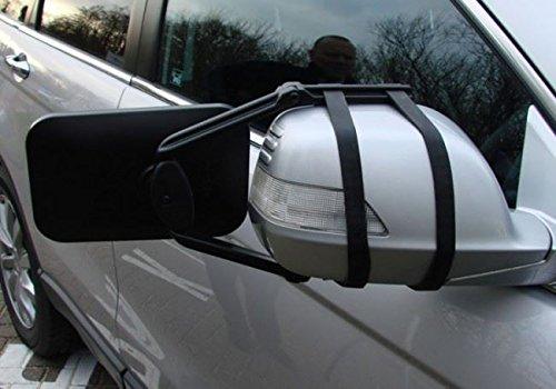 2 Caravan Trailer Extension Towing Dual Mirror Glass Convex Pair Nissan Qashqai