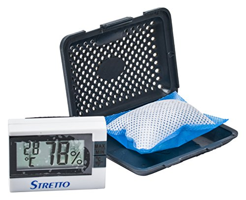 STRETTO STR-1020 Humidifier for Violin, Viola & Small Instruments Case, 2 humid bags with HYGROMETER