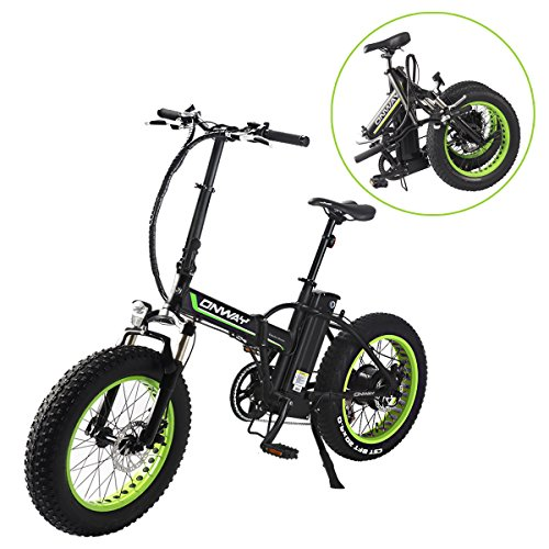 ONWAY Fat Tire 20 Inch Electric Bikes 350w 36v Snow Folding Bicycles Lithium Battery E-bikes For Adults