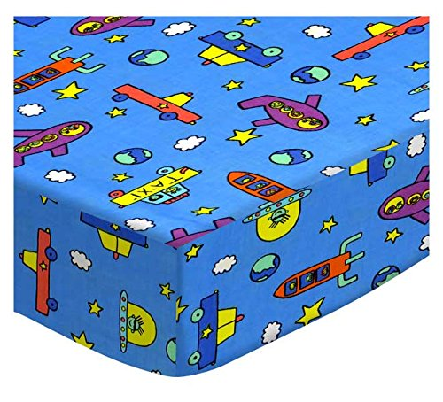SheetWorld Fitted Pack N Play Sheet, Fits Graco Square Playard 36 x 36, Kiddie Transport - Made In USA by SHEETWORLD.COM