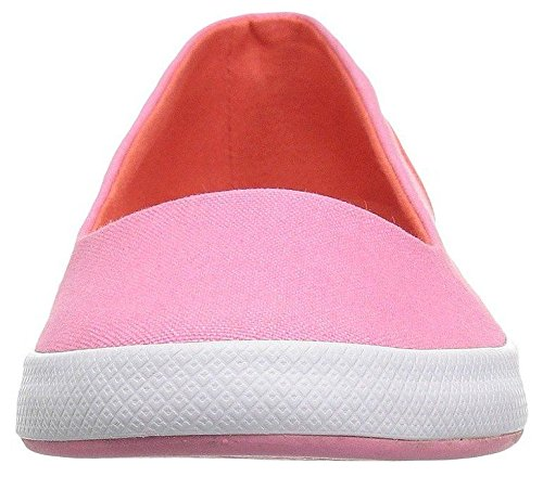 Femmes Lacoste Rose Lancelle Blanc Chaussures Toile Slipons 118 Balerina xTqYw1B