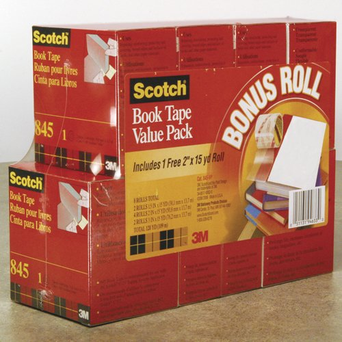 Core Networking (Scotch - Book Repair Tape 8 Roll Multi-Pack, 15 yard Rolls, 3quot; Core - 8/Pack)