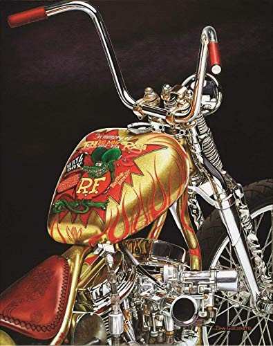 (Indian Larry Rat Fink Daddy-O Bobber, Ltd Edition Motorcycle Art Print, Ratfink Wall Art Signed Numbered w/Certificate -Original Painting by John Guillemette )
