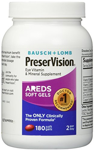 Bausch and Lomb PreserVision AREDS Formula Eye Vitamin and Mineral Supplement - 180 Softgels - Areds Formula