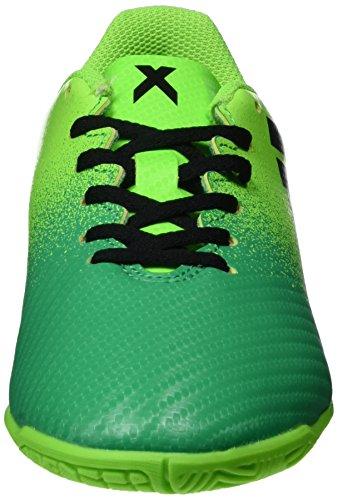adidas X 16.4 IN J, Botas De Fútbol Niños, Verde (Versol/Negbas/Verbas), 38 1/2 EU