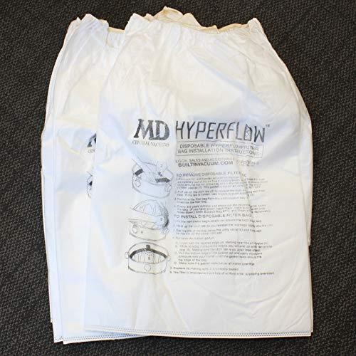 M.D. Manufacturing 720H-5 Paper Bag, Silent Master Central Vac 8-Gallon 5Pk, 8 Gallon
