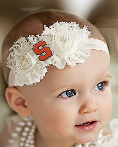 - Future Tailgater Syracuse Orange Baby/Toddler Shabby Flower Hair Bow Headband (Newborn - 3 Months/ 13