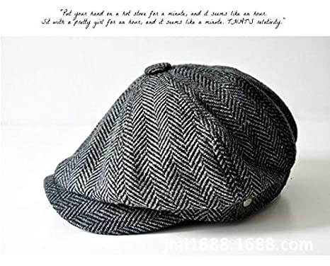 Amazon.com  Yichener Fashion Herringbone Tweed Gatsby Newsboy Cap ... 229481376abc