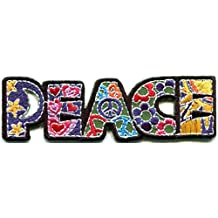 Peace sign hippie boho retro flower power summer of love hippy applique iron-on patch new by TKPatch