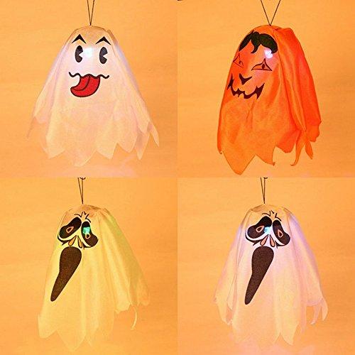 Elaco Happy Halloween Party Pumpkin Light Ghost Household Children Terror Fun Decor (Ghost Light Strand)
