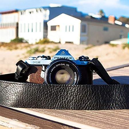 Canon Camera Strap Nikon Camera Strap Black TETHERs Black Leather Camera Strap for DSLR or SLR Camera DSLR Camera Strap Camera Accessories