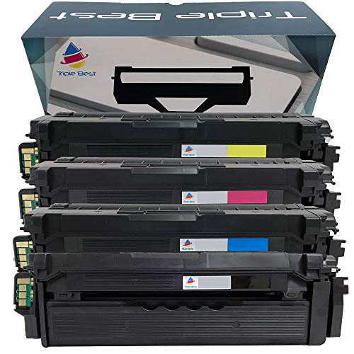 (Triple Best Remanufactured Toner Cartridge Replacement for Samsung CLT-K503L CLT-C503L CLT-M503L CLT-Y503L ProXpress C3010DW C3060FW MFP (Black; Cyan; Magenta; Yellow) (4 Packs) )