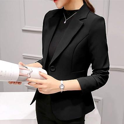 KLMMM Blazer de Mujer Blazer Negro para Mujer Blazers Formales ...