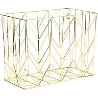 U Brands Hanging File Desk Organizer, Wire Metal, Gold - 894U02-06