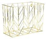 U Brands - Vaso para lápices, alambre de metal, Organizador de archivos colgante, Dorado