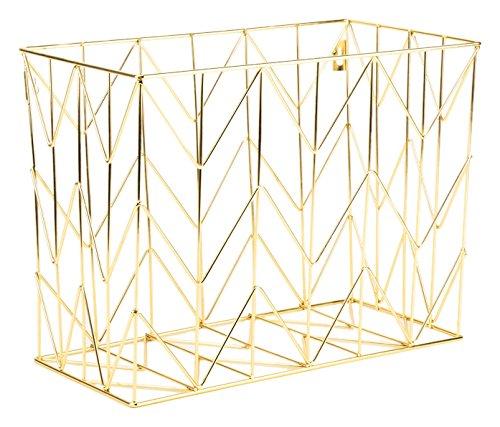 U Brands Hanging File Desk Organizer, Wire Metal, Gold by U Brands