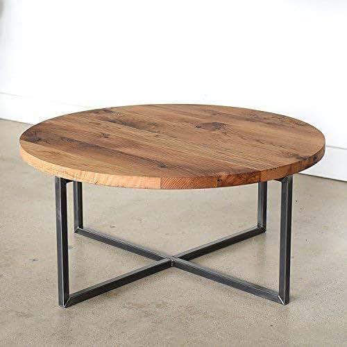 Reclaimed Wood Coffee Table Amazon: Amazon.com: Round Modern Reclaimed Coffee Table: Handmade