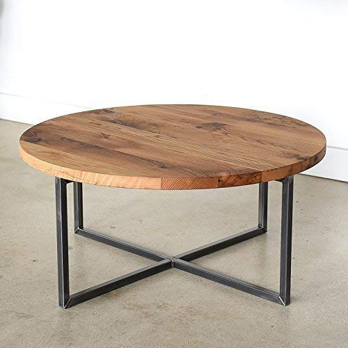 Amazon Com Round Modern Reclaimed Coffee Table Handmade