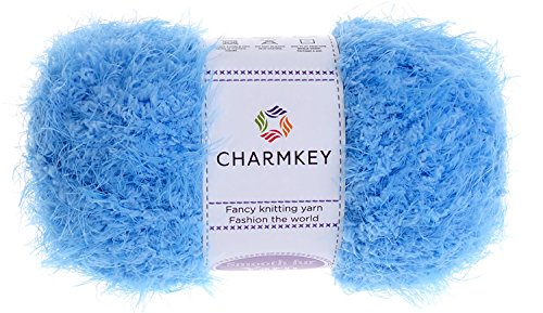 Smooth Fur Baby Yarn-Charmkey C1603 new design 2019 Super Soft for Knitting different type of blanket sweater and scarf,Animal Toys and More Chunky yarn, perfect for Crochet Project 1 Skein 3.35 Ounce - Feather Yarn Stripe