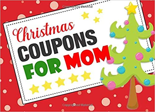 Christmas Coupons For Mom Coupon Book With 20 Beautiful Write In