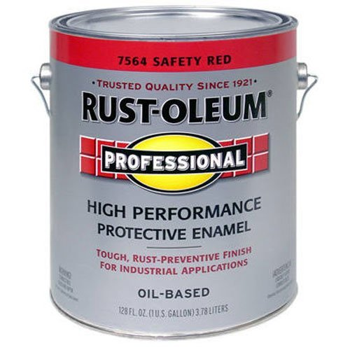 RUST-OLEUM 7564-402 Gallon Red Enamel Paint