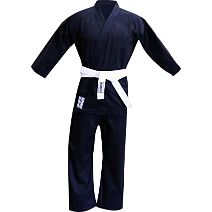 011e4df70 Buy Amber Fight Gear 8oz Karate Uniform Black, 6 Online at Low Prices in  India - Amazon.in