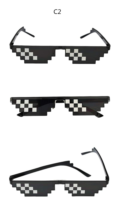 Amazon.com: Skuleer - Glasses 8 Bit MLG Pixelated Sunglasses ...