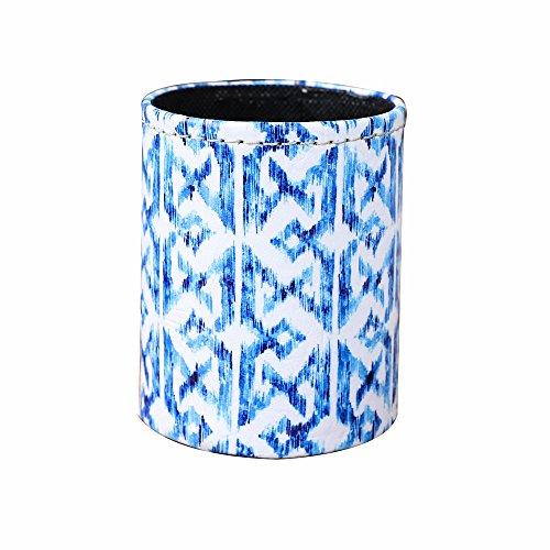 LINKWELL Blue Ikat Design PU Leather Pencil Pen Holder Desk Organizer PH33