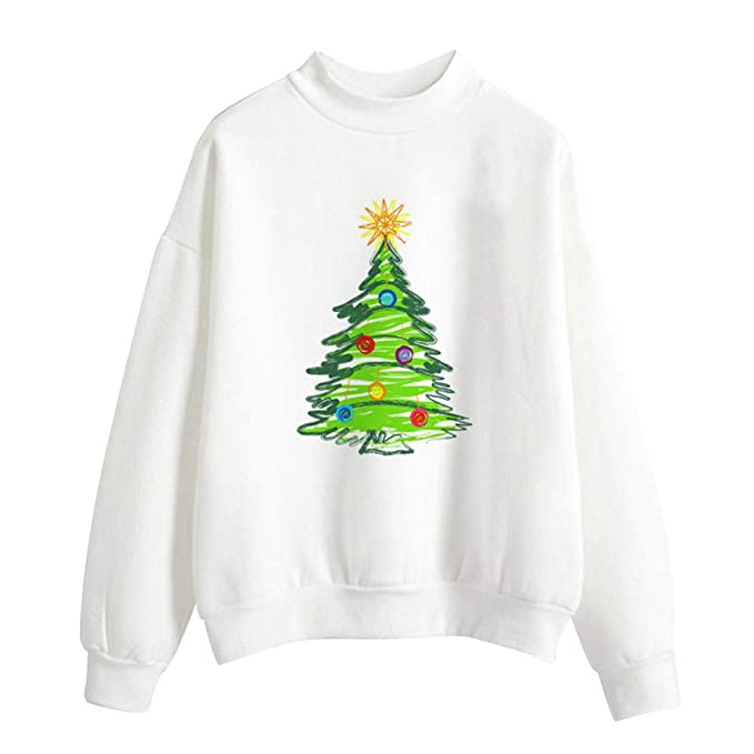 Amazon.com: Clearance Sale for Women Tops.AIMTOPPY Women Christmas Print Long Sleeve Ladies Blouse Pullover Tops Shirt Sweatshirt: Computers & Accessories