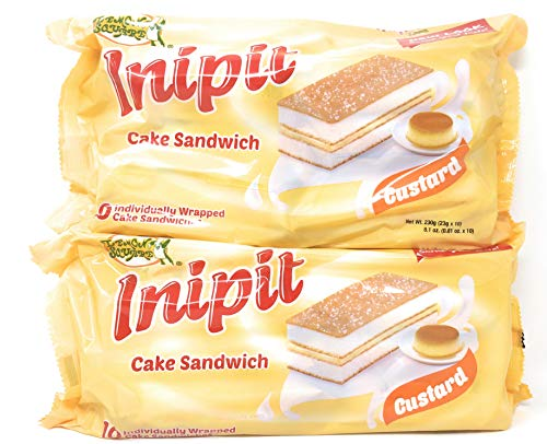 Lemon Square Inipit Cake Sandwich Custard Flavor 8.1oz, 2 Pack